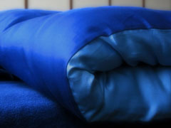 blue down comforter